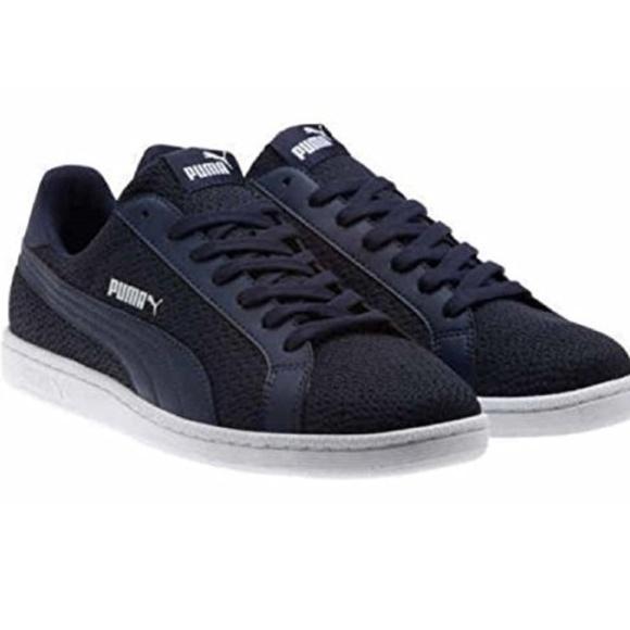 be5547b13b66b PUMA Mens Smash Knit C Sneakers